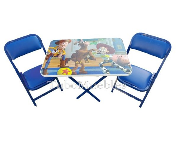 Juego de mesa plegable 2 sillas plegables infantiles - Mesa infantil plegable ...